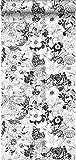 papier peint fleurs noir et blanc - 138503 - d'ESTAhome.nl