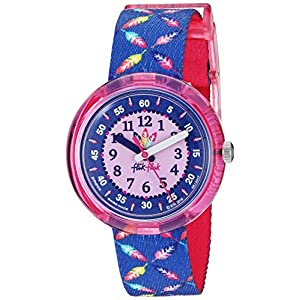 Flik Flak Kids' Camping Quartz Polyester Strap, Purple, 14 Casual Watch (Model: ZFPNP016)