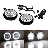 iJDMTOY Black Finish LED Rally Driving Lights Compatible With MINI Cooper w/Halo Ring LED Daytime Running Lights, Powered by (9) High Power 3W LED Lights As Driving Lamps & (30) LED Lights as DRL