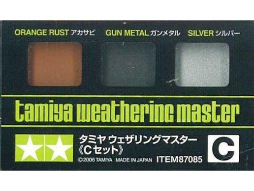ウェザリングマスターCセット (アカサビ・ガンメタ・シルバー) tm085 金属の汚し表現に最適!