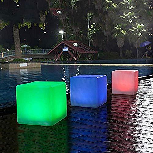 LED-Solar-Aussen-Garten-Leuchte-Lampe MATE 40x40x40cm Solar-Balkon-Terrasse-Boden-Teich-Dekorations-Weihnachts-Leuchte-Lampe (1 x 40cm)
