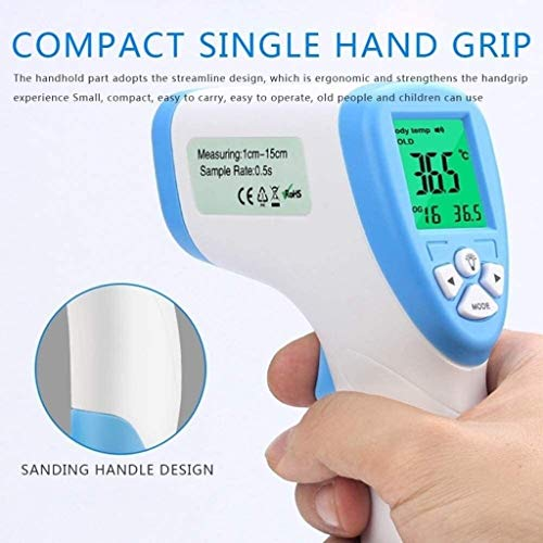LIUPENGWEI Thermometer Digital Frontale Non-Contact 1s De Baby Thermometers Scanner Instant Reading En Zeer Nauwkeurige Fever Alarm Laser Temperatuurpistool basale thermometer