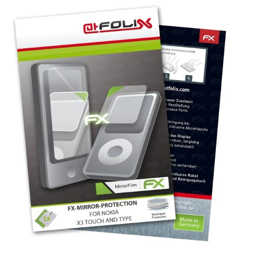 atFolix 4050512677685 Displayschutzfolie, X3 Touch and Type, 3 FX-Mirror (Effet miroir) - 1 pièces