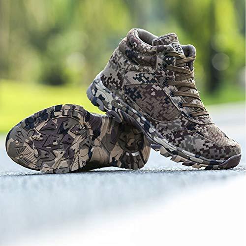 HaoLin Botas Militares De Invierno Al Aire Libre Botas Especiales De Guerra De Combate para Hombres Alta Ayuda para Zapatos De Entrenamiento Botas Frías,Green-44