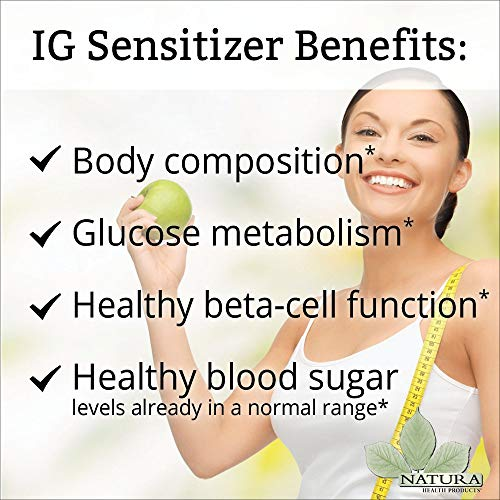 Natura Health Products - IG Sensitizer - Supports Healthy Blood Sugar Metabolism - 90 Capsules