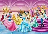 1art1 Disney Prinzessin - Arielle, Aschenputtel, Belle Und Prinzessinnen, Tanzabend Fototapete Poster-Tapete 255 x 180 cm