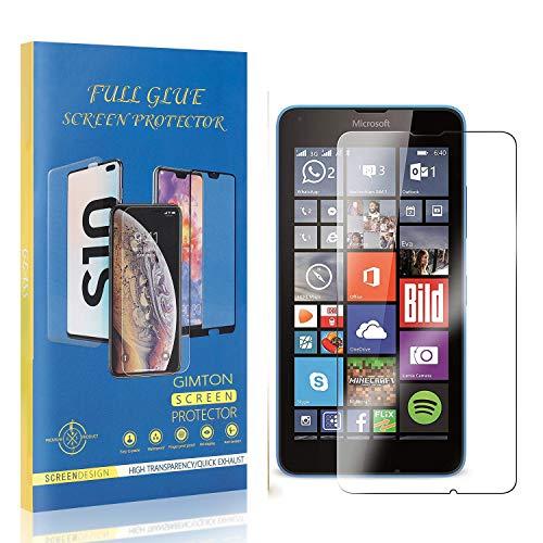 GIMTON Displayschutzfolie für Microsoft Lumia 640, 9H Härte Kratzfest Panzerglasfolie, Ultra Transparente Schutzfilm aus Gehärtetem Glas für Microsoft Lumia 640, 2 Stück