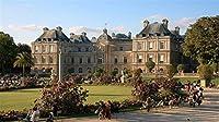 5Dダイヤモンド絵画キットリュクサンブール宮殿パリ美術館の庭家の壁の装飾のためのクロスステッチDIY刺繡絵画 30x40cm
