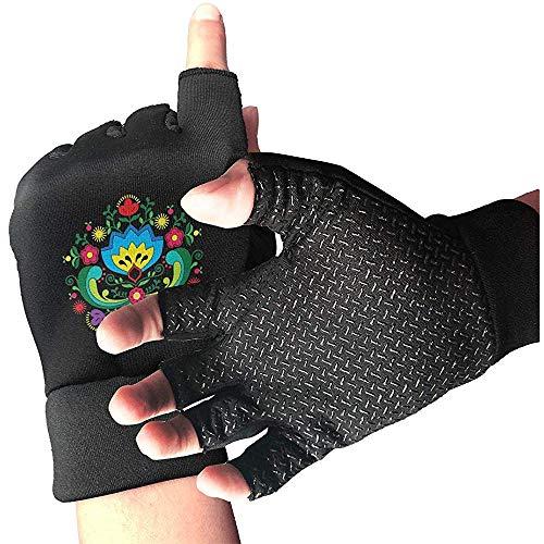 c-sky Damen Herren Norweger Trachten Trainingshandschuhe Fitness Gym Handschuh