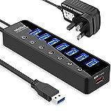 Best Usb Hubs - atolla Powered USB 3.0 Hub 20W, 7 Multi Review