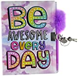 3C4G Be Awesome Locking Journal with Feather Pen