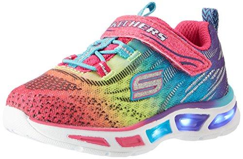 Skechers Girls' S Lights: Litebeams Low-Top Sneakers, Multicolor (mlt), 11 UK Child