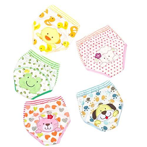 5er Pack Baby Training Pants Waschbare Trainerhosen Trainingswindel Kleinkinder Cartoon Unterwäsche Unterhosen Windelhose 110 Töpfchenwindel