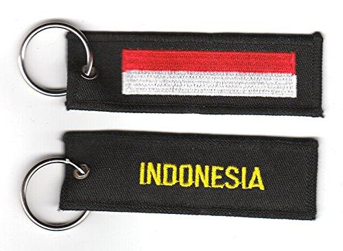 Schlüsselanhänger Indonesien Anhänger Fahne Flagge FLAGGENMAE®