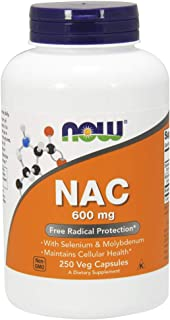 NOW Supplements, NAC 600 mg, 250 Veg Capsules