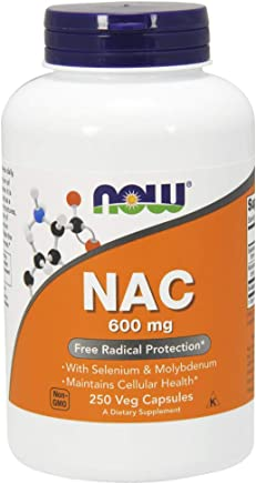 NOW NAC 600 mg,250 Veg Capsules
