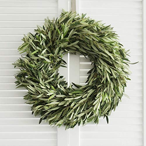 Fresh Handmade Wreath - Olive Branch Wreath (various sizes available) for Front Door, Church Door, Window, Wall, Home Decor, Wedding, Gifts to Loved Ones