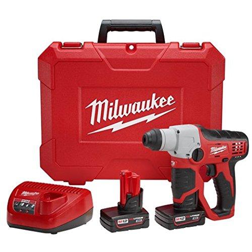 Milwaukee 2412-22XC M12 1/2 SDS Rotary Hammer Kit W/2 Xc Bat