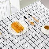 Wachstuch-Tischdecke Abwaschbar Garten-Tischdecke Wachstischdecke PVC Plastik-Tischdecken Wasserabweisend Abwischbar 140x180 cmWeiß - 8