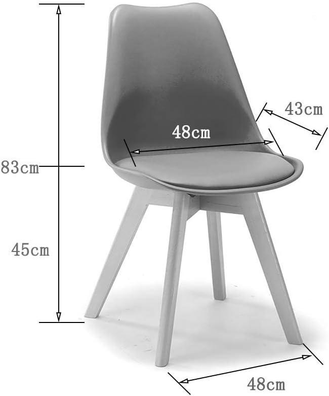XMGJ MLGX Chaise - - Chaise de Salle à Manger rétro créative européenne, Fauteuil en Bois Naturel, Salon, Bureau et Salle à Manger Chaise Moderne midcentury (Color : Yellow) Green