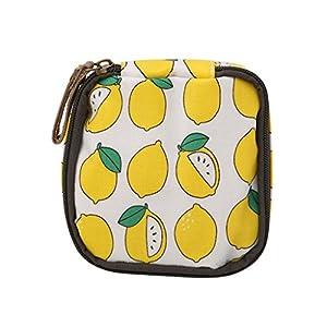 Maskdoo 3Pack Women Fashion Sanitary Napkin Pouch Coin Purse Wallet Zip Change Bag For Girls Teens