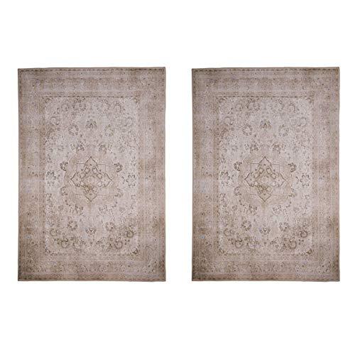 Webtappeti.it Paire de tapis, descentes de lit, 80 x 150 cm, lavables et antidérapants