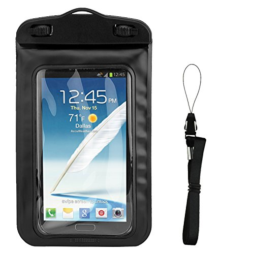 Floating Black Waterproof Cell Phone Case Dry Bag Pouch for Motorola One, Moto G7, G7 Plus, G7 Play, Z3 Play, E5, E5 Play, E5 Cruise, G6, G6 Play, X4, G5s, G5