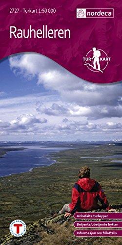 Norwegen topographische Wanderkarte Rauhelleren, Turkart 1:50.000 [Landkarte] Landkarte