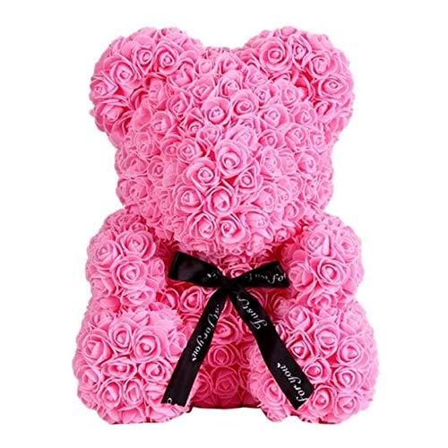 Deal Rose Bear Cute Love Flower Bear Teddy Bear (Pink)