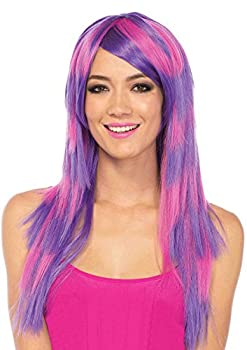 Leg Avenue Women s Cheshire Laye Two Tone Wig Pink/Purple One Sizes Fit Most
