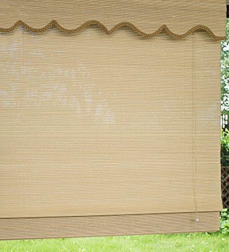 WUFENG Rideau de porte enroulable en bambou Rideau de porte anti-insectes Para Puertas balcon salon salon à thé Rideau de porte (couleur : B, taille : 90 x 180 cm)