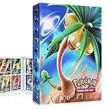 QIFAENY Porta Carte Pokemon, Album Pokemon, Raccoglitore Carte Pokémon, Album Carte Pokemon Tag GX Ex, Album per Giochi di Carte collezionabili, capacità di 30 Pagine 240 Carte (Exeggutor)