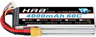 HRB 4S Lipo Battery 14.8V 4000mAh 60C XT60 Connector for RC Truggy Truck Multirotors Hexacopter Octacopters Airplane