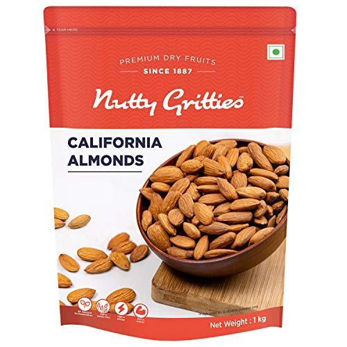 Nutty Gritties 100% Natural California Almonds, 1kg