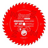 Freud - FRE-D1040W 10' x 40T Thin Kerf Premier Fusion General Purpose Blade for Crosscuts (3/8' to 3-1/2') & Rips (3/4' to 1-1/2') wood, laminate, veneered plywood, hardwoods & melamine. (P410T)