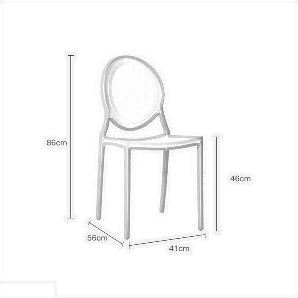HURONG168 Chaises de cuisine Dressing tabouret chaise en plastique minimaliste moderne chaise nordique chaise de maquillage chaise de maquillage siège lounge (Couleur : Blanc) Noir