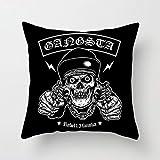 PPTS ins muebles para el hogar dibujos animados cráneo abrazo almohada impreso sofá cojín cubierta