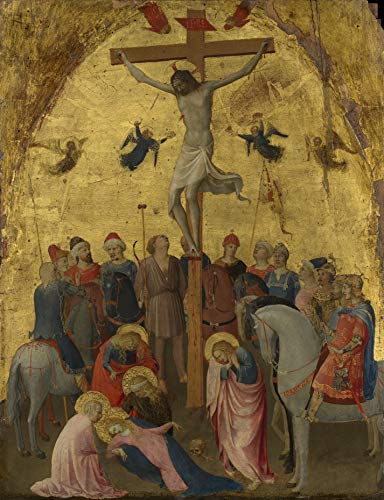 """Fra Angelico Crucifixion 1420-1423 Metropolitan Museum of Art New York, NY 24"""" x 18"""" Fine Art Giclee Canvas Print (Unframed) Reproduction"""