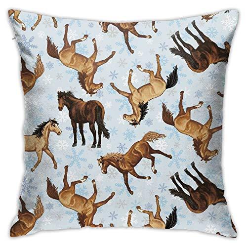 Kathleen Hill- Funda de almohada cuadrada personalizada, para dormitorio, oficina, 45,72 x 45,72 cm
