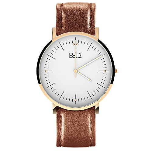 BaIDI Quartz Wrist Watches for Womens w/Leather Wristband -$9.81(74% Off)