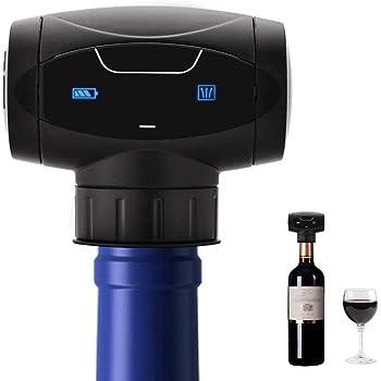 Nincyee Tappi di Vino, Riutilizzabili Automatico Elettrico Vuoto Bottiglia di Vino Sughero, Vino Saver Pompa Vuoto Mantenere Vino Fresco