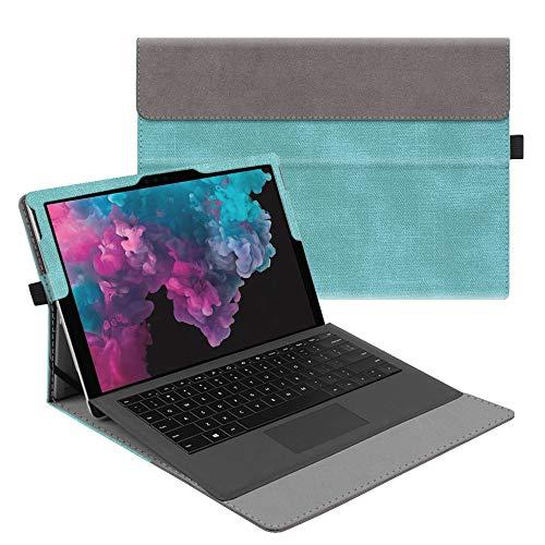 Fintie Funda para Microsoft Surface Pro 7 (2019)/Pro 6 (2018)/Pro 5/Pro 4/Pro 3 - Múltiples Ángulos Carcasa Función de Soporte Compatible con Teclado Type Cover(Teclado No Incluido), Verde Menta