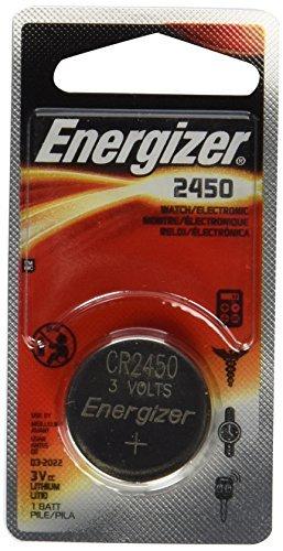 Energizer CR2450 Lithium Battery, 3v ECR2450, 12 PK
