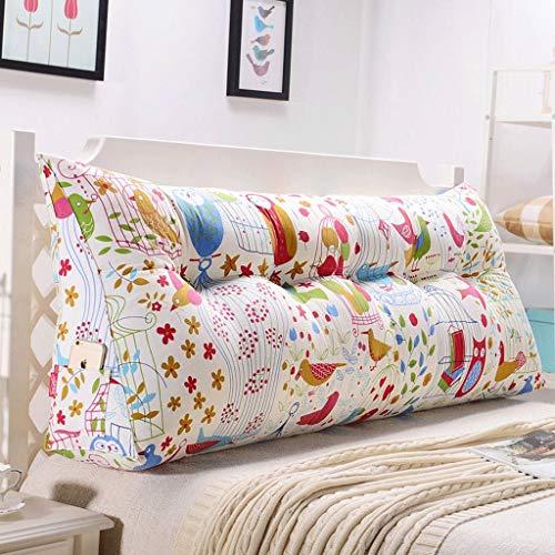Tokyia Cojín lumbar para sofá de doble espalda, suave para cama, almohada lumbar (color: K, tamaño: 135 cm)