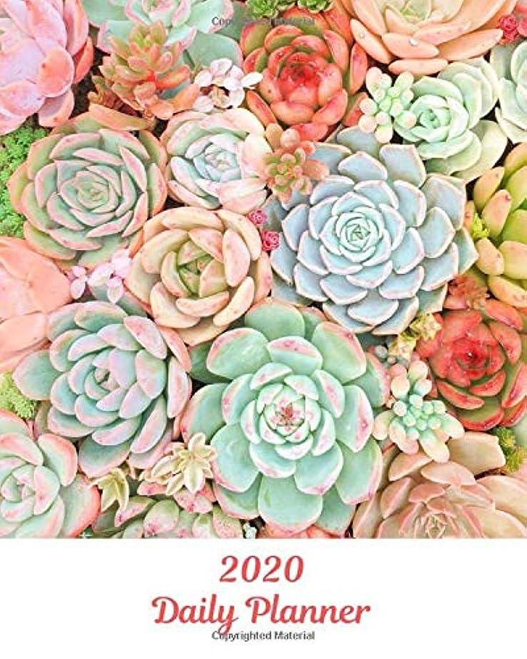 パーセントレール音楽を聴く2020 Daily Planner: Succulents; January 1, 2020 - December 31, 2020; 8