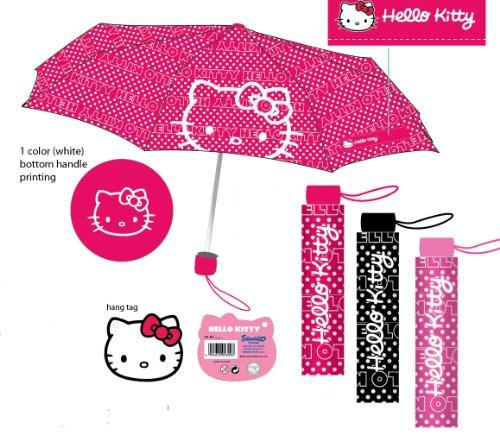 Hello Kitty Taschenschirm fuchsia 4866 Schirm Kinder - Regenschirm