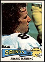1975 Topps # 135 Archie Manning New Orleans Saints (Football Card) VG/EX Saints Ole Miss