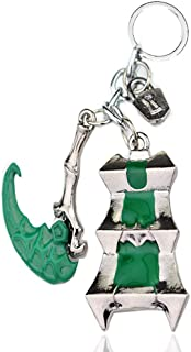 Game Accessories League of Legends LOL Soul Lock Warden Hammer Stone Keychain Key Ring