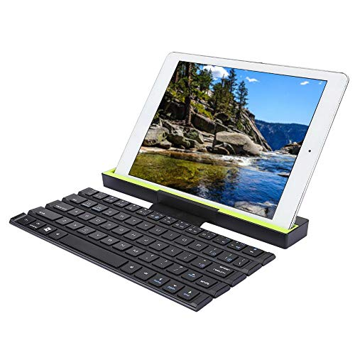 Garsentx Tastiera Multi-Dispositivo Bluetooth, Portatile Compatta Senza Fili Pieghevole 64 Tasti Tastiera del Computer Funziona con Computer, Telefono e Tablet