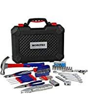 WORKPRO 160PC ホームツールセット 工具セット 作業工具セット 作業道具セット家具の組み立て&住まいのメンテナンス用 家庭用基本工具